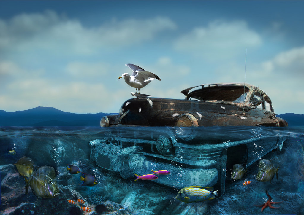Underwater Car by Gass77 on Deviant Art